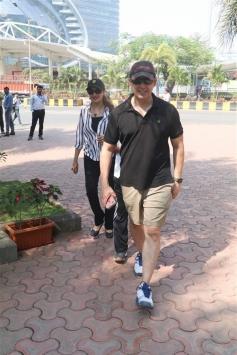 Madhuri Dixit With Family Spotted At Yauatcha Bkc Bandra