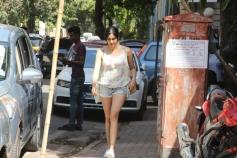 Adah Sharma Spotted At Kitchen Garden Bandra
