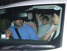 Karishma Kapoor's Son And Daughter Spotted At Juhu