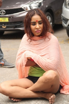 Actress Sri Reddy Protest at Film Chamber