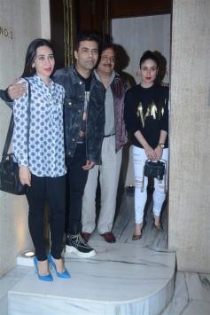Kareeena, Karisma & Karan Johar Spotted At Manish Malhotra House
