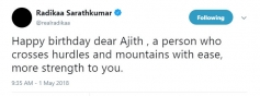Celebs Who wished Ajith On His Birthday