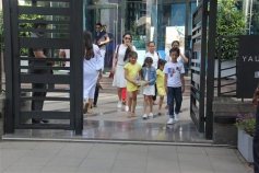 Manayata Spotted With Kids