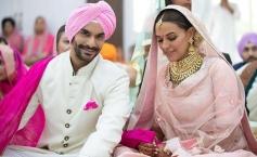 Neha dhupia & Angad Bedi Marriage Photos