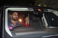Sanjay Dutt, Ranbir Kapoor and Aliaa Bhatt Spotted At Rishi Kapoor House