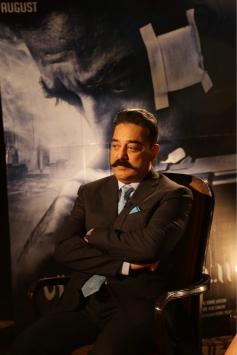 Kamal Haasan And Pooja Kumar At A Photoshoot To Promote Vishwaroopam  2 In New Delhi Photos