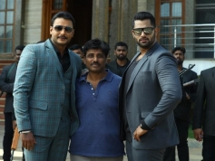 Actor Darshan in Amar movie shooting set