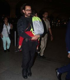 Aamir Khan With His Son Spotted At Airport