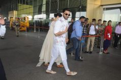Deepika Padukone & Ranveer Singh Leave For Bangalore Reception