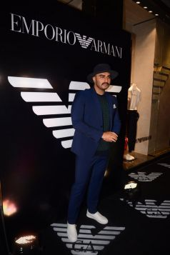 Arjun Kapoor At Emporio Armani New Collection Launch