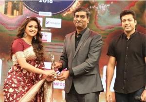 Actress Keerthy Suresh Stills At JFW Awards 2018
