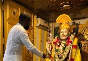 Raghava Lawrence Observing Shri Raghavendra Swamy's Jeevasamadhi Day