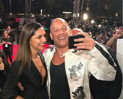 Deepika Padukone & Vin Deisel At XXX Return of Xander Cage Premiere