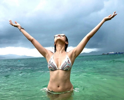Dream Girl Movie Heroine Nushrat Bharucha Bikini Holiday Photos