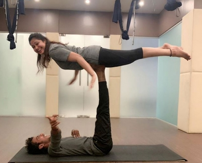 Indian Celebs Performing Yoga