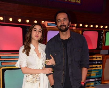 Sara Ali Khan, Rohit Shetty & Others on the sets of Movie Masti With Maniesh Paul