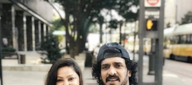Upendra And Priyanka Visit To United States