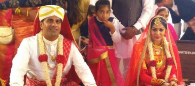 Bigg Boss Kannada Contestant Aiyappa And Anu Marriage Photos