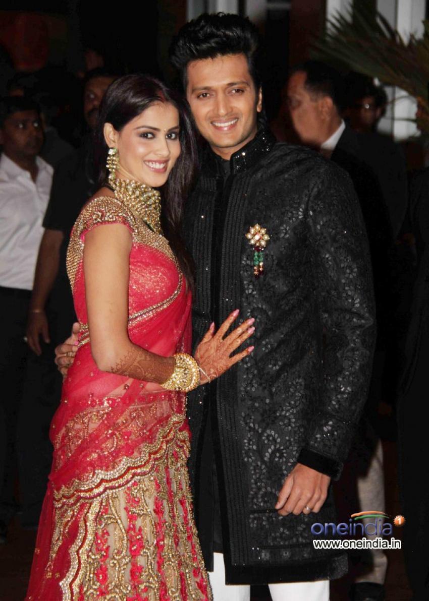 Ritesh Deshmukh and Genelia D\'Souza Wedding Reception