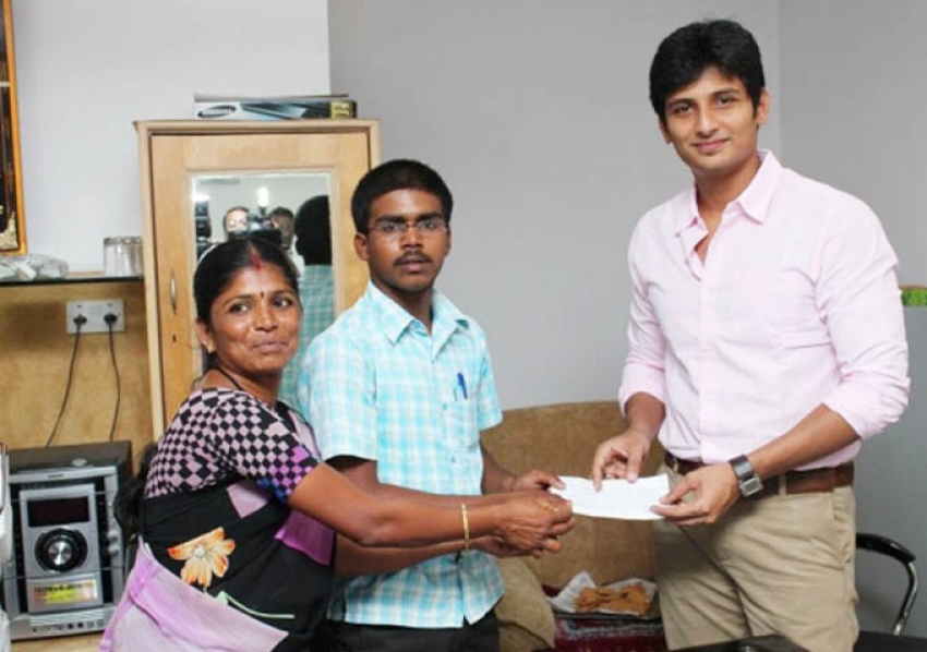 Jiiva Press Meet Regarding Education Sponsor for a Student Photos