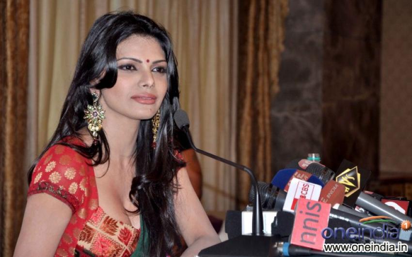Sherlyn Chopra at Playboy Press Meet