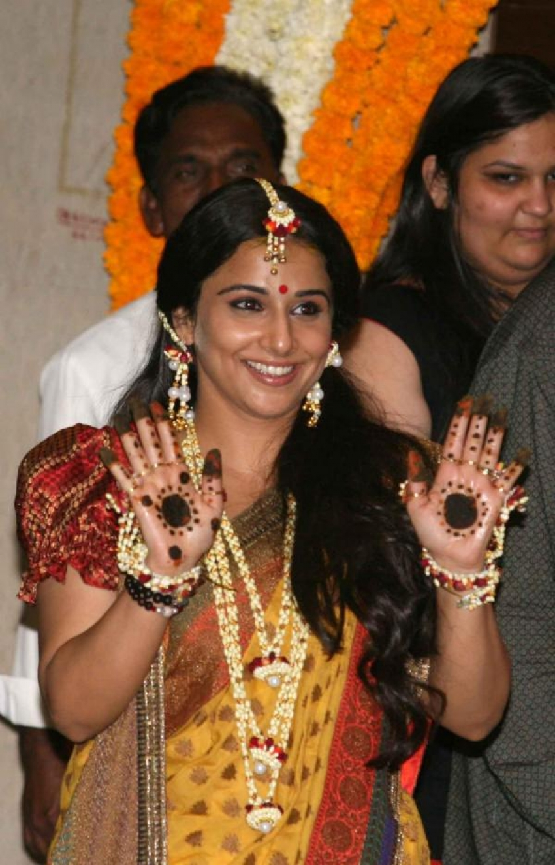 Vidya Balan's Mehndi Ceremony Photos