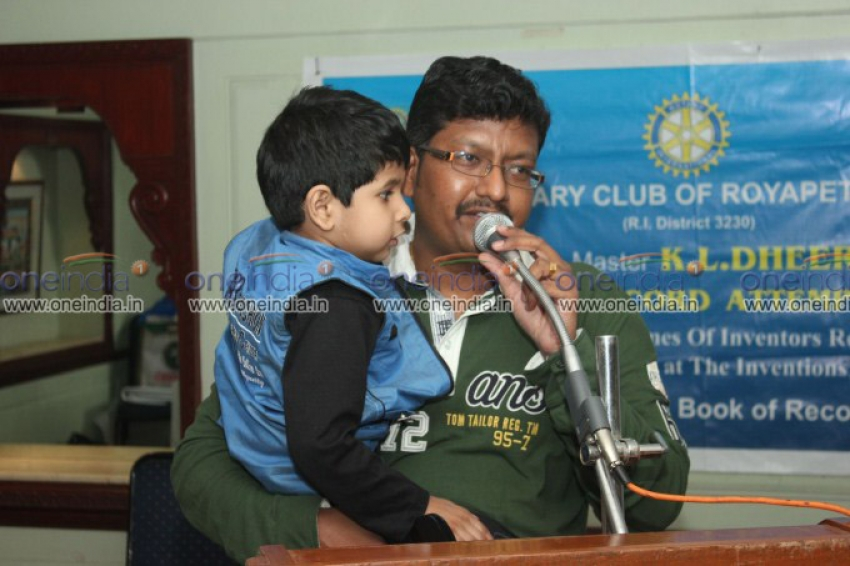 3 year Old Boy Achieved  India Book of Records Photos