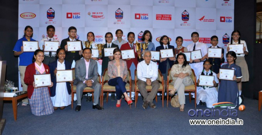 Announcement of HDFC Life Spell Bee 2013 Photos