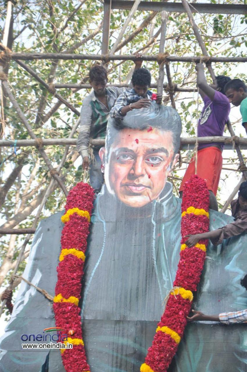 Fans celebrate 'Vishwaroopam' release in TN Photos