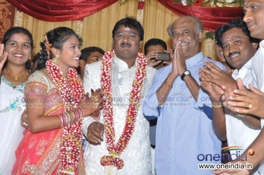 Rajinikanth at Murugan and Rajalakshmi Wedding Photos