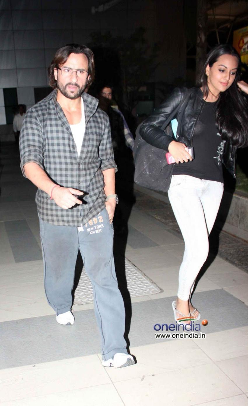 Saif Ali Khan and Sonakshi Sinha Snapped at Airport Photos