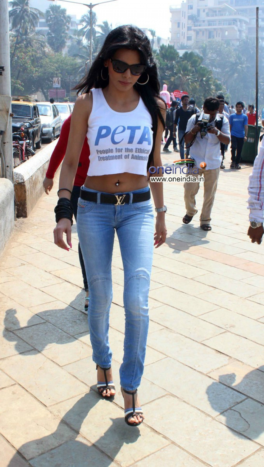 Sherlyn Chopra With PETA Promotes Safe Sex For Animals Photos