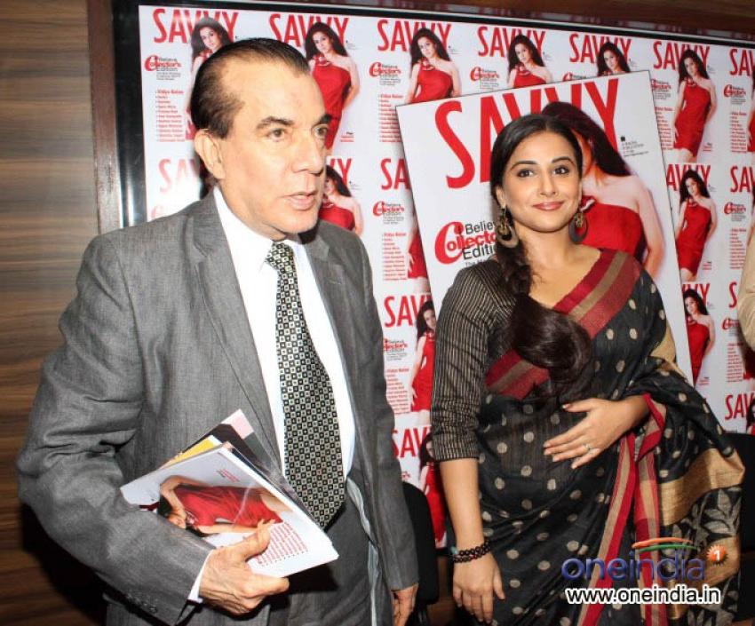 Vidya Balan Unveiled Savvy Magazine cover Photos