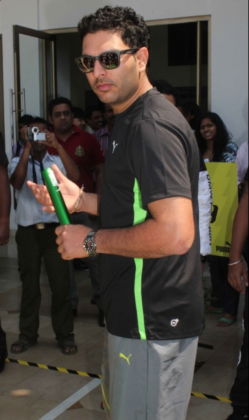 Yuvraj Singh Launches PUMA Urban Stampede Photos