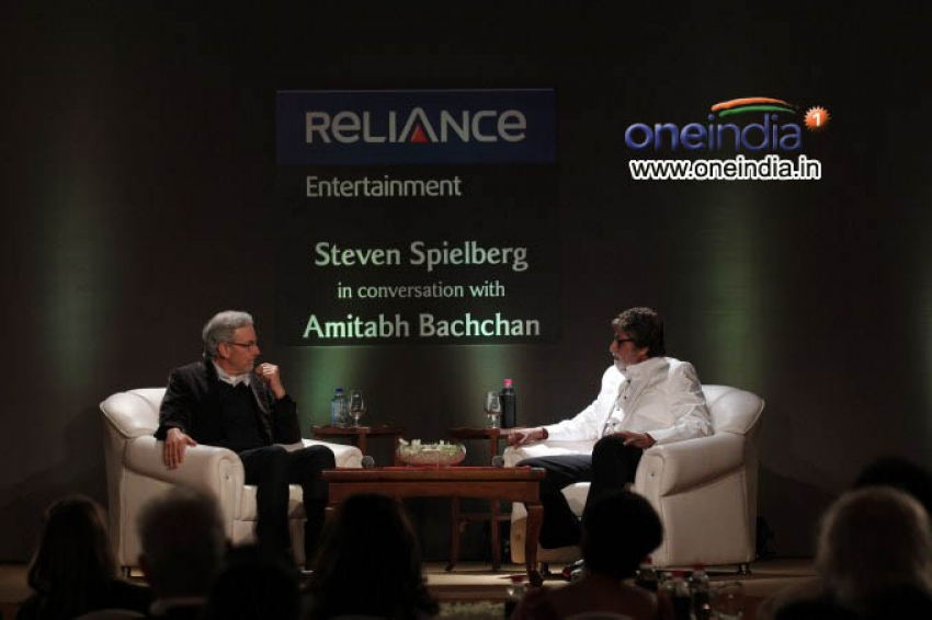 Steven Spielberg in a conversation with Amitabh Bachchan Photos