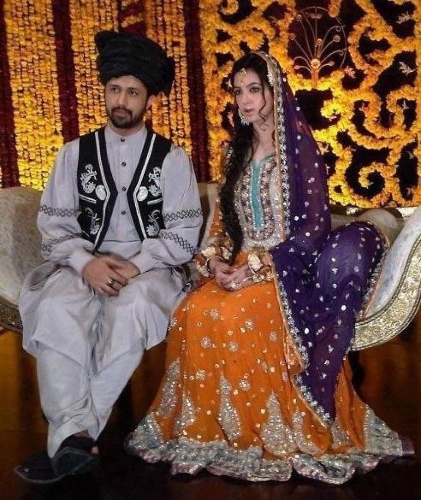 Atif Aslam and Sara Bharwana Mehndi Ceremony Photos