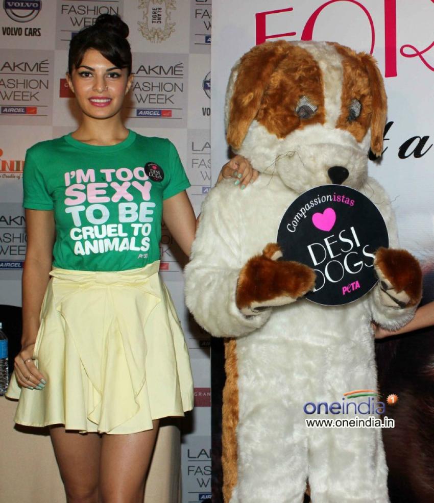 Jacqueline Fernandez Promotes PETA New Campaign Photos