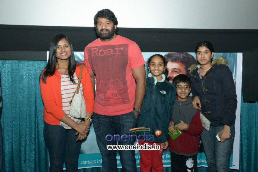 Prabhas in US NJ Multiplex Photos
