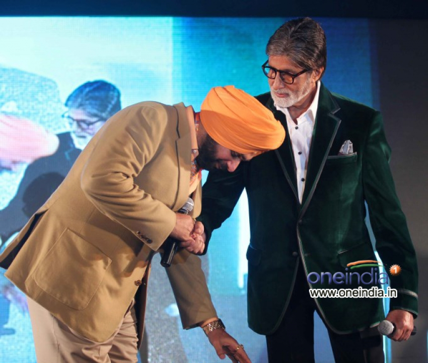 Amitabh Bachchan Launches Navjot Singh Sidhu's website SherryOnTopp Photos