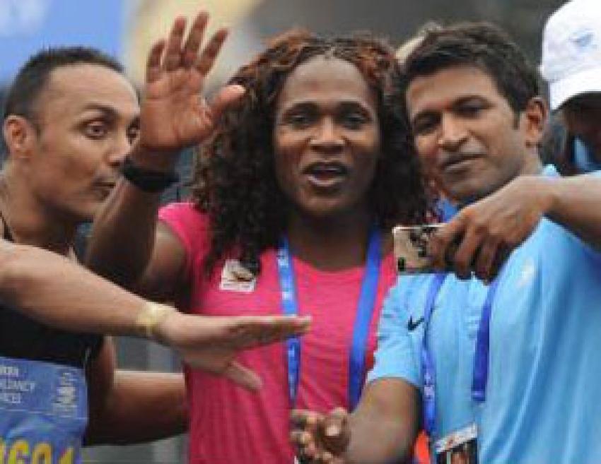 Puneeth Rajkumar at the event of TCS World 10K Marathon Photos