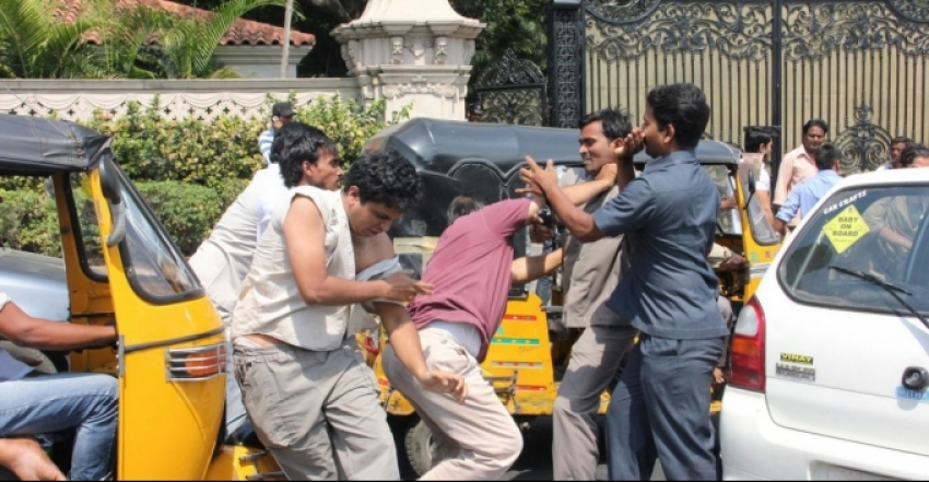 Ram Charan's Men Attack Car Driver In Hyderabad Photos