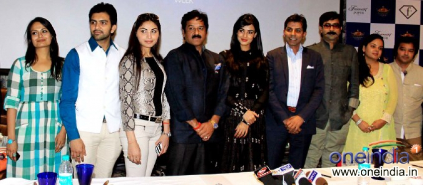 Sonal Chauhan at Press Conference of Rajasthan Fashion Week Photos