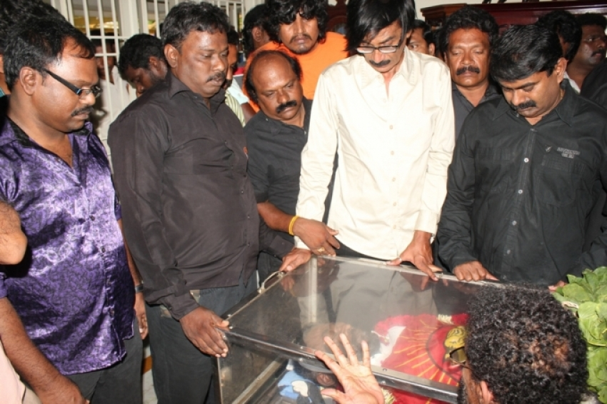 Manivannan's Last Journey Photos