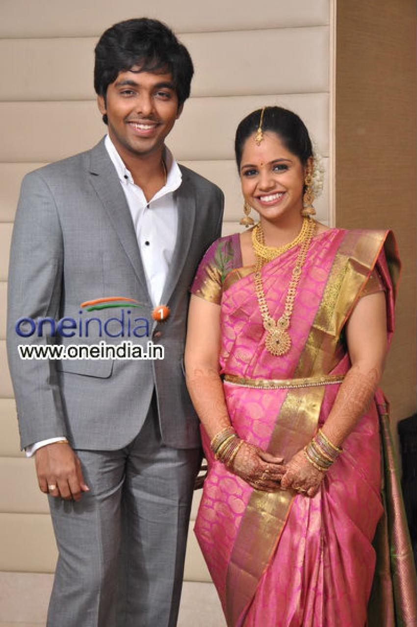 GV Prakash and Saindhavi Engagement Photos