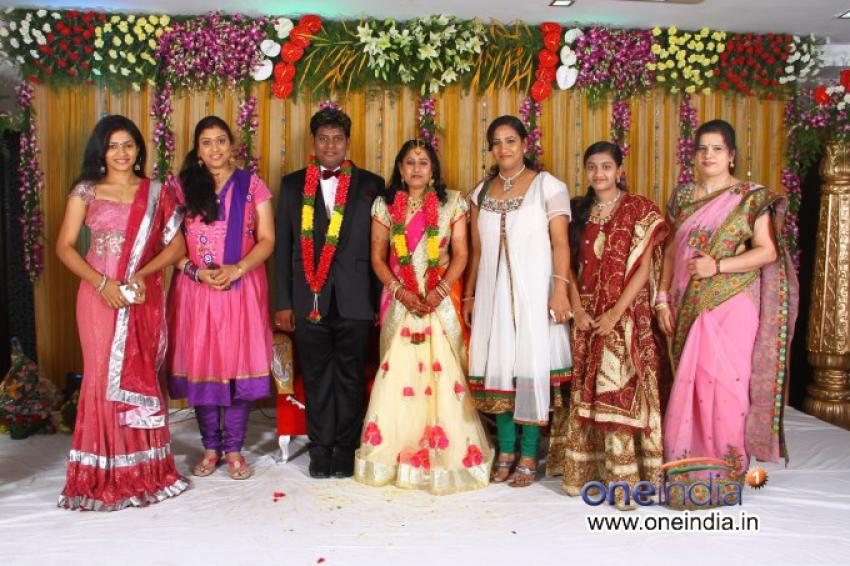 P Sudhakar's Son Sumanth & Veena's Wedding Reception Photos