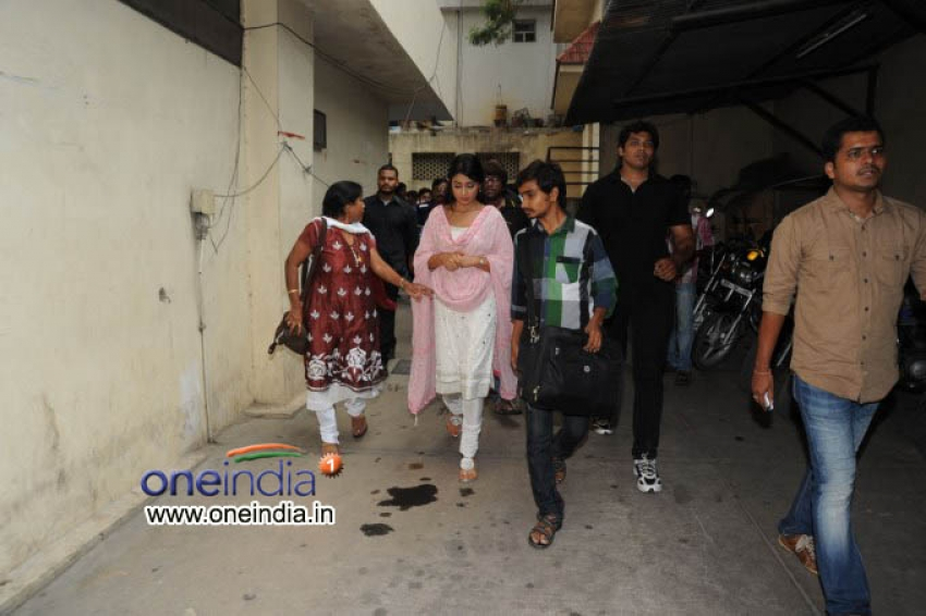 Pavitra Team in Theator Covarage in Hyderbad Photos