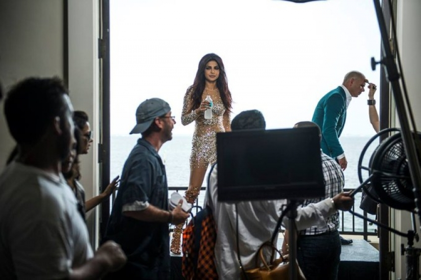 Priyanka Chopra on the Sets of Exotic Video Shoot Photos