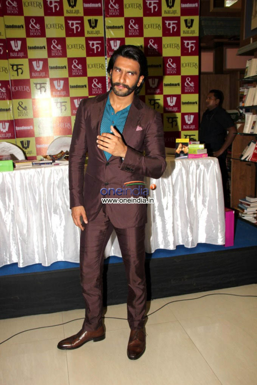 Raveer Singh and Sonakshi Sinha Launches Mills & Boons lootera Collection Photos