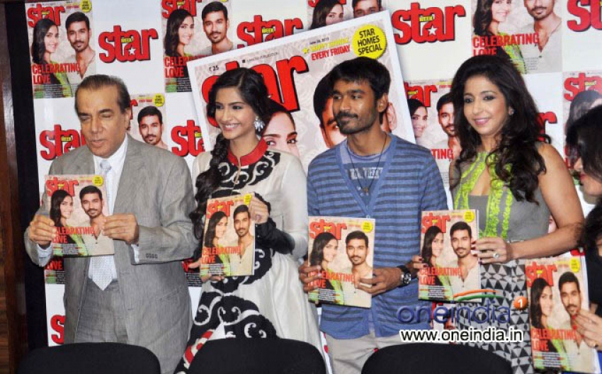 Sonam Kapoor and Dhanush Unveils Latest Issue of Starweek. Photos