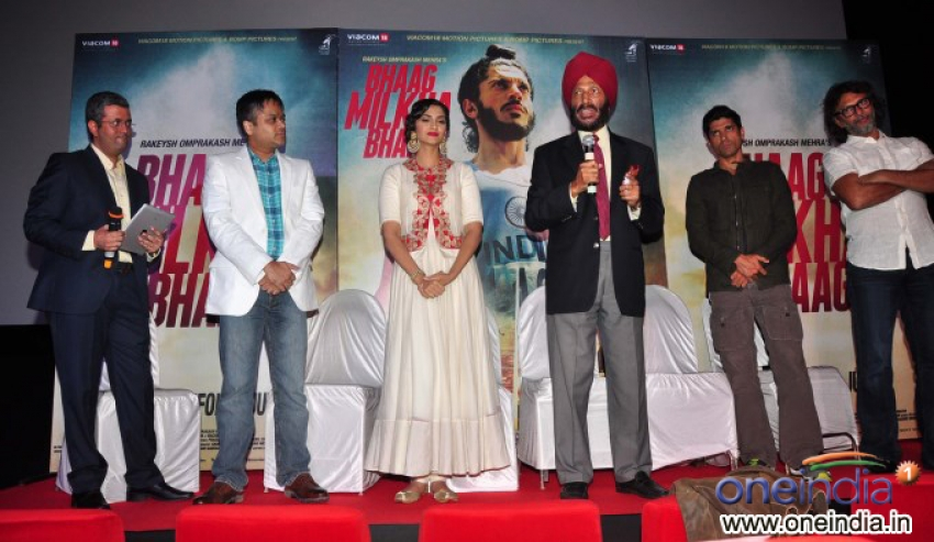 Theatrical Trailer and Music launch of film Bhaag Milkha Bhaag Photos